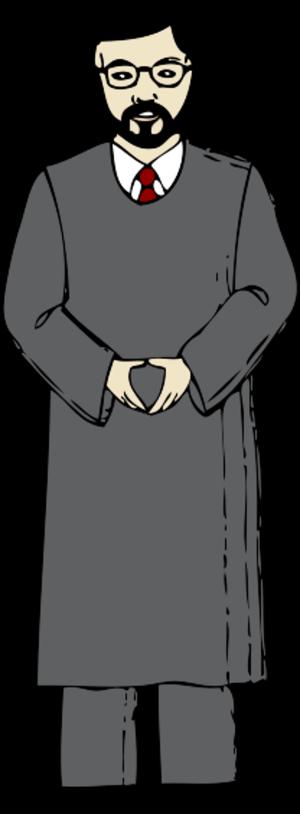 clip art clipart svg openclipart grey 人物 cartoon media man person uniform famous law judge justice occupation job 剪贴画 卡通 男人 人类 灰色 多媒体